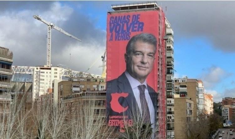 (عکس) تبلیغ جالب برای خوان لاپورتا، نامزد ریاست باشگاه بارسلونا
